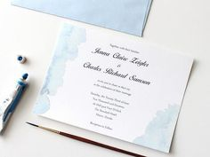 Download the Summer watercolor wedding invite here. Source: DIY Network