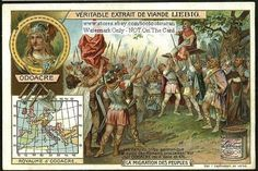 German Barbarian Odoacre Conquors Rome c1905 Card