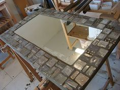 DIY: High Quality Mosaic Mirror/Frame  Great instructions on this site
