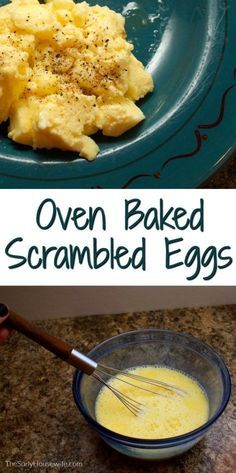 Want to know know how to make perfect, fluffy scrambled eggs? Searching for the best scrambled eggs recipe? Then you need to try my oven baked scrambled eggs! The are perfect a perfect breakfast recip Easy Chicken Recipes, Egg Recipes, Brunch Recipes, Breakfast Recipes, Breakfast Ideas, Mexican Breakfast, Breakfast Sandwiches, Brunch Ideas, Free Recipes