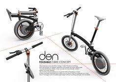 """Foldable E-Bike Concept - """"den"""" on Behance"""
