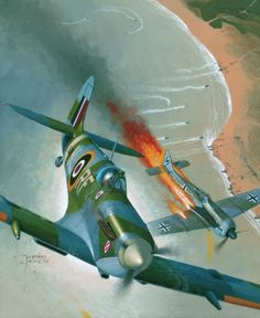 Supermarine Spitfire Mk Vb by dugazm on DeviantArt. Ww2 Aircraft, Fighter Aircraft, Military Aircraft, Fighter Jets, Me 109, Focke Wulf 190, The Spitfires, Airplane Art, Supermarine Spitfire