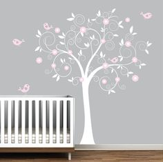 Wall decal vinyl wall decals tree with birdsnursery by Modernwalls, $99.00