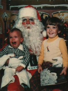 hahahah santa looks a little sad... and maybe that little boy too...