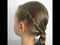 Uneven 3 Strand Braid - YouTube