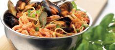 Skaldjurspasta med musslor och vitt vin