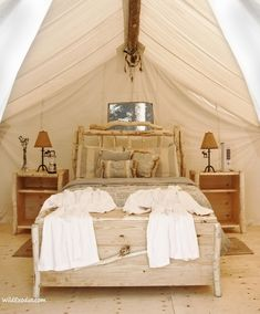 Glamping! (i feel like this would be nice for a honey moon :) )