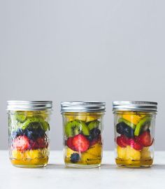 Layered in mason jars, these lemon poppy seed marinated fruit jars are a fresh, on-the-go snack with easy, make-ahead prep. Perfect for kids lunches too.