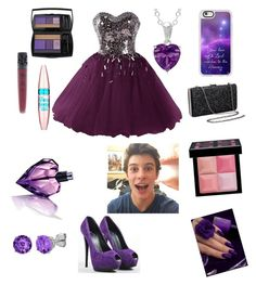 """Emma's movie date with Shawn"" by alpha-angel98 on Polyvore featuring Giuseppe Zanotti, Urban Decay, Casetify, Lancôme, Diesel, Maybelline, Belk & Co. and Givenchy"