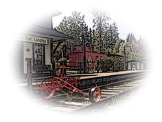 This historical site has been relocated to the corner of Mavis and Glover in Fort Langley British Columbia. Langley British Columbia, Train Station, Historical Sites, Canada, Cabin, Vacation, House Styles, Vacations, Cabins