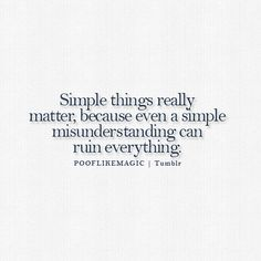 its simple really