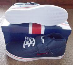NEW REEBOK WORKOUT MID STRAP LV Athletic Navy MENS LTD NIB vintage classic NR #Reebok #AthleticSneakers