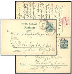 Germany, German Empire, Deutsches Reich 1901, 5 Pfg.-GA-Doppelkarte von Jonsdorf/Sachsen nach Neustadt/Wttbg., von dort nach Sachsen zurückgeleitet (Mi.-Nr.P56). Price Estimate (8/2016): 15 EUR. Unsold.