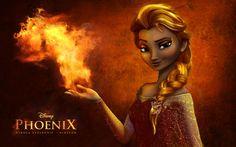 disney phoenix nickart frozen elsa queen elsa fire queen i really like the outcome Disney And Dreamworks, Disney Pixar, Walt Disney, Disney Characters, Disney Princesses, Elsa Frozen, Disney Frozen, Hans Frozen, Disney Fan Art
