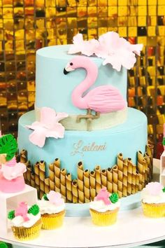 Home Interior Design Pink Flamingo Party, Flamingo Baby Shower, Flamingo Cake, Flamingo Birthday, Shower Party, Baby Shower Parties, Shower Games, First Birthday Cakes, Birthday Ideas