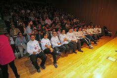 Participantes antes de la entrega de premios