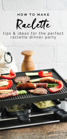 How to make raclette #raclette #raclettecheese #racletteparty