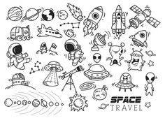 Space Themed Doodle in 2020 Kritzelei Tattoo, Doodle Tattoo, Doodle Art Drawing, Doodle Doodle, Space Drawings, Easy Drawings, Space Doodles, Tattoo Flash Art, Space Theme