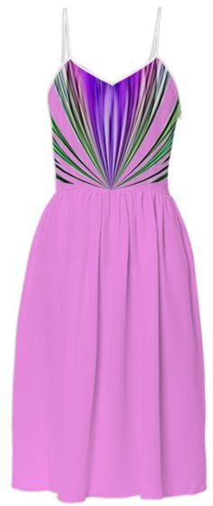 Pink with Purple and Green Stripes Summer Dress from Print All Over Me