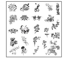 MoYou Nails Square Stamping Image Plate 412