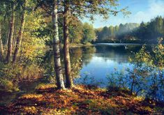 by Yanulevich Gennady ? Seascape Paintings, Nature Paintings, Watercolor Paintings, Watercolor Landscape, Landscape Art, Landscape Paintings, Dream Pictures, Pictures To Paint, Foto Picture