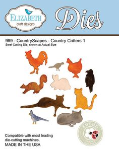 Elizabeth Craft Designs - Die - Country Scapes Country Critters by Susan Tierney Cockburn,$14.95