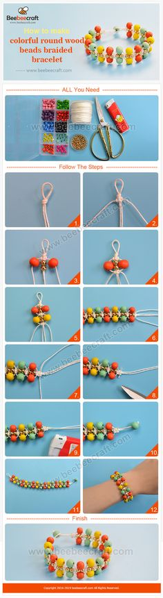 46 Ideas Wood Diy Jewelry Beads For 2019 Bead Crafts, Jewelry Crafts, Handmade Jewelry, Diy Schmuck, Schmuck Design, Jewelry Making Tutorials, Beading Tutorials, Beaded Jewelry Patterns, Bracelet Patterns
