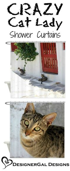We all know one CRAZY cat lady who would appreciate these! Crazy Cat Lady, Crazy Cats, Unusual Gifts, Essentials, Bath, Wall Art, Prints, Photography, Animals
