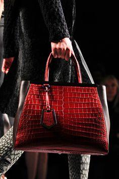 Fendi autumn wear. Red crocodile. // michael kors bags,handbags for women fashion style