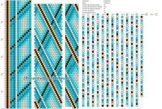 15 around bead crochet rope pattern Crochet Bracelet Pattern, Crochet Beaded Bracelets, Beaded Necklace Patterns, Bead Crochet Patterns, Bead Crochet Rope, Peyote Patterns, Beading Patterns, Bead Loom Designs, Beaded Animals