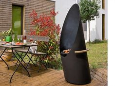 Barbecue and outdoor wood-burning fireplace DIAGOFOCUS by Focus | Design Dominique Imbert