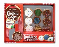 Looking for Melissa Doug Slice And Bake Cookie Set? Compare prices for Melissa Doug Slice And Bake Cookie Set, find the best offer in hundreds of online stores! Set Cookie, Cookie Tray, Decorating Blogs, Cookie Decorating, Wooden Play Food, Play Food Set, Wooden Slices, Baking Set, Melissa & Doug