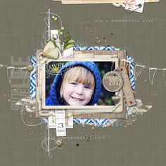 more amazing layering in this #scrapbook page from carolynn at DesignerDigitals.com