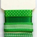 Wstążki dekoracyjne - komplet zielony