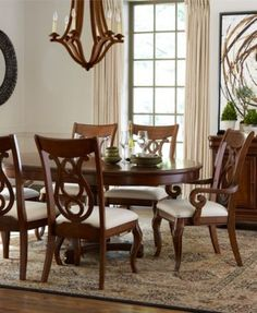 Bordeaux Pedestal Round Dining Room Furniture Collection, Created For Macyu0027s