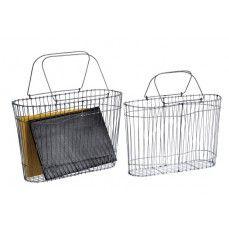 Wire Metal Baskets, Set of 2    $30.00 @ http://www.antiquefarmhouse.com/current-sale-events/office.html