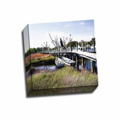 Picture It on Canvas 'Marsh Harbor Square II' Gallery-wrapped Canvas Wall Art