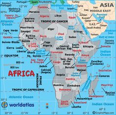 this site has several maps showing the different countries inside africa it also talks about the many deserts rivers seasoceans etc