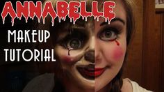Creepy Annabelle Doll Halloween makeup tutorial. From the movie Annabelle and The Conjuring.
