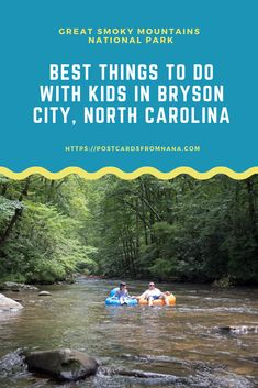There are so many fun things to do with kids in Bryson City, NC and the Great Smoky Mountains National Park. Here is a list of some of the best! Bryson City North Carolina, Bryson City Nc, North Carolina Usa, North Carolina Mountains, Nc Mountains, Great Smoky Mountains, Appalachian Mountains, Vacation Places, Places To Travel