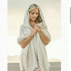 Jade wrap Nwt and packaging.  Hooded wrap is cozy and soft and so beautiful! joyfolie Other