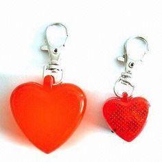 Pet ID Tag(big/small), Heart-shaped, Ultra Bright LED