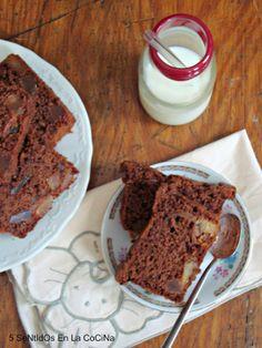 5 Sentidos en la cocina: Cake de chocolate y calabaza confitada