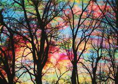Cotton Candy Clouds - Dahlia House Art Studio
