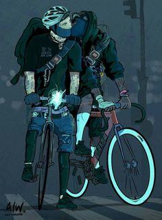 Amor ciclista...