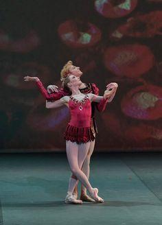 Royal Ballet's production of Jewels, Rubies Sarah Lamb and Steven McRae