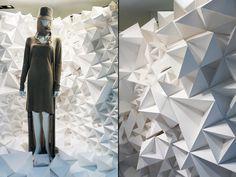 ARTIFACTS paper flakes windows, Taipei visual merchandising
