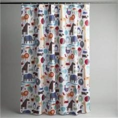 Elephant Jungle Safari Animal Bath Shower Curtain w 12 Hooks Bath Rug