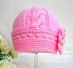 .......................... PATTERN .................................. ------------------------------------------------------------------ .................... INSTANT DOWNLOAD ................... ------------------------------------------------------------------ This is a Knitting PATTERN Baby Hat ( PDF file ). Price is ONLY for the PATTERN and NOT for the finished item ! ----------------------------------------------------------------------------------------------- They are knitted ...