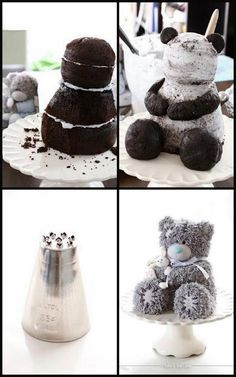 fluffy bear cake tutorial